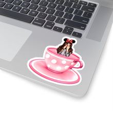 Load image into Gallery viewer, Teacup Girl Light Skin Brown Hair Vinyl Sticker Decal