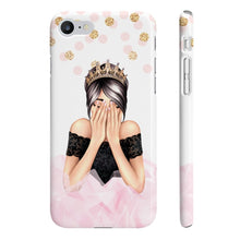 Load image into Gallery viewer, Birthday Girl Light Skin Black Hair iPhone Case - Protective Phone Cover - Planner Press Designs