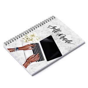 Self Made Dark Skin Spiral Notebook - Ruled Line