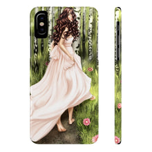 Load image into Gallery viewer, iPhone X Enchanted Forest Light Skin Brown Hair Case Mate Slim Phone Cases