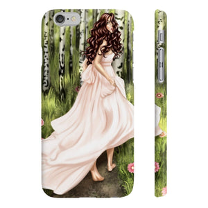 Enchanted Forest Light Skin Brown Hair iPhone Case - Protective Phone Cover - Planner Press Designs