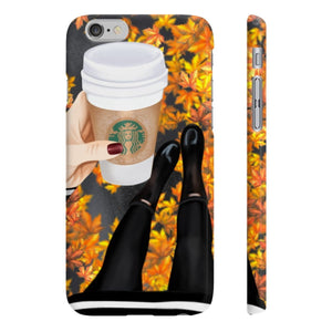 Falling in love with Fall Light Skin iPhone Case - Protective Phone Cover - Planner Press Designs