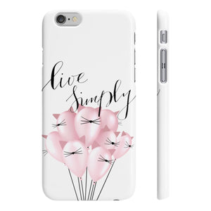 Live Simply iPhone Case - Protective Phone Cover - Planner Press Designs