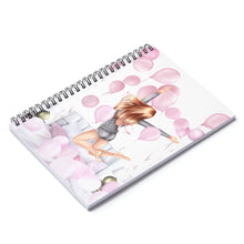 Load image into Gallery viewer, Birthday Mornings Light Skin Red Hair Spiral Notebook - Ruled Line