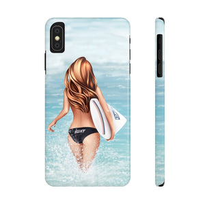 iPhone X Surfer Girl Light Skin Red Hair Case Mate Slim Phone Cases