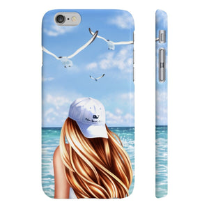 Beach Days Light Skin Red Hair iPhone Case - Protective Phone Cover - Planner Press Designs