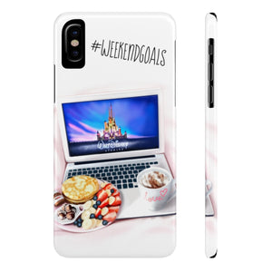 iPhone X Weekend Goals Case Mate Slim Phone Cases