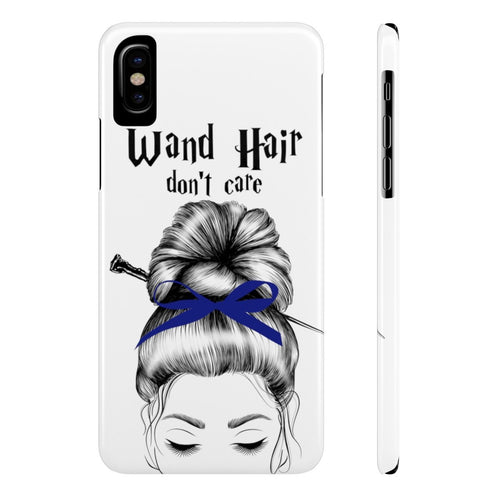 iPhone X Wand Hair Don't Care Blue House Case Mate Slim Phone Cases