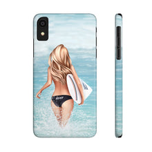 Load image into Gallery viewer, iPhone X Surfer Girl Light Skin Blonde Hair Case Mate Slim Phone Cases