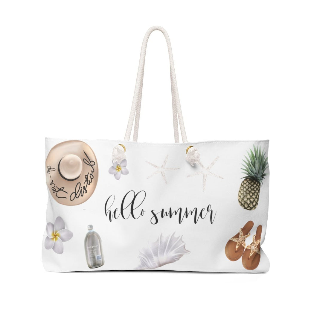 Hello Summer Weekender Bag Tote - Weekend Tote Bag