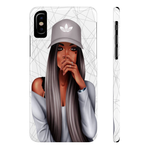 iPhone X My Time Dark Skin Black Hair Case Mate Slim Phone Cases