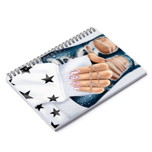 Galaxy Nails Light Skin  Spiral Notebook - Ruled Line