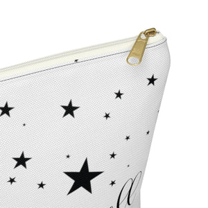 Galaxy Girl Light Skin Pink Hair Accessory Pouch with T-bottom - Pencil Case