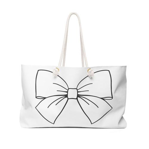 Bow Life Weekender Bag Tote - Weekend Tote Bag - Planner Press Designs