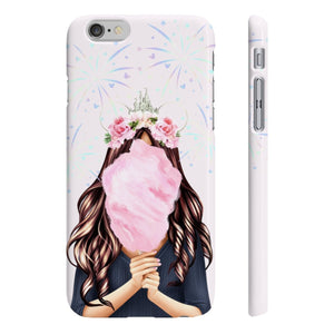 Cotton Candy Dreams Disney Light Skin Brown Hair iPhone Case - Protective Phone Cover - Planner Press Designs