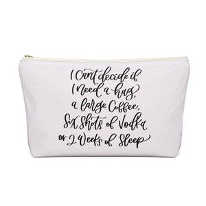 Tired Mondays Light Skin Brown Hair Accessory Pouch with T-bottom - Pencil Case