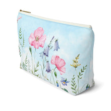 Load image into Gallery viewer, Flower Fields Accessory Pouch with T-bottom - Pencil Case