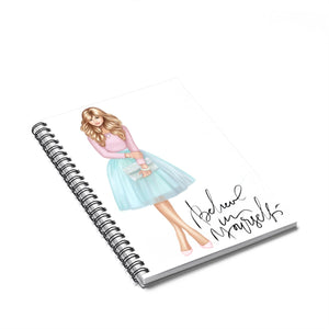 Believe In Yourself Light Skin Blonde Hair Spiral Notebook - Ruled Line