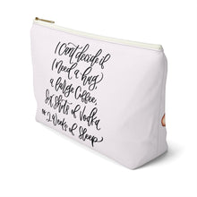 Load image into Gallery viewer, Tired Mondays Medium Skin Brown Hair Accessory Pouch with T-bottom - Pencil Case