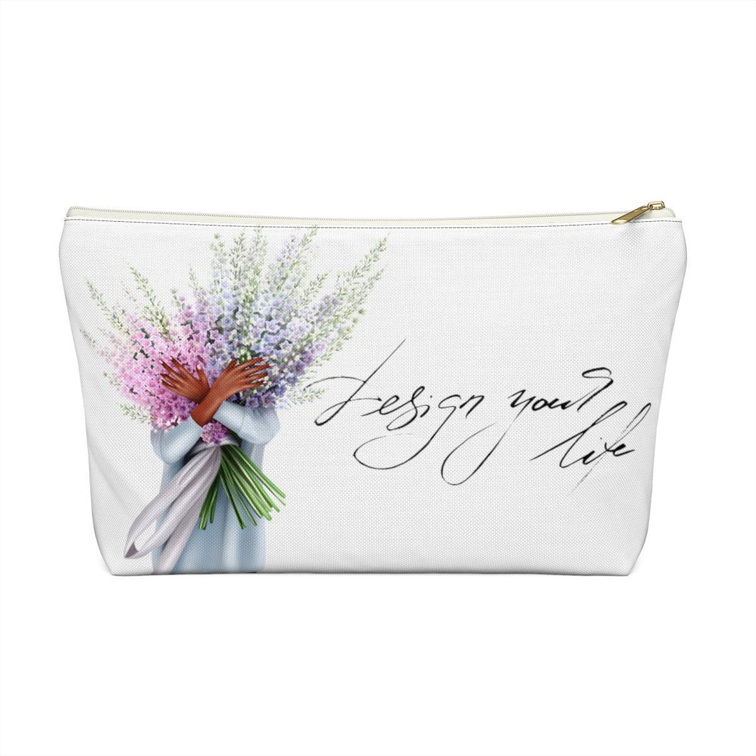 Design Your Life Dark Skin Accessory Pouch with T-bottom - Pencil Case - Planner Press Designs