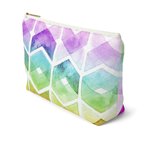 Chevron Rainbow Accessory Pouch with T-bottom - Pencil Case - Planner Press Designs
