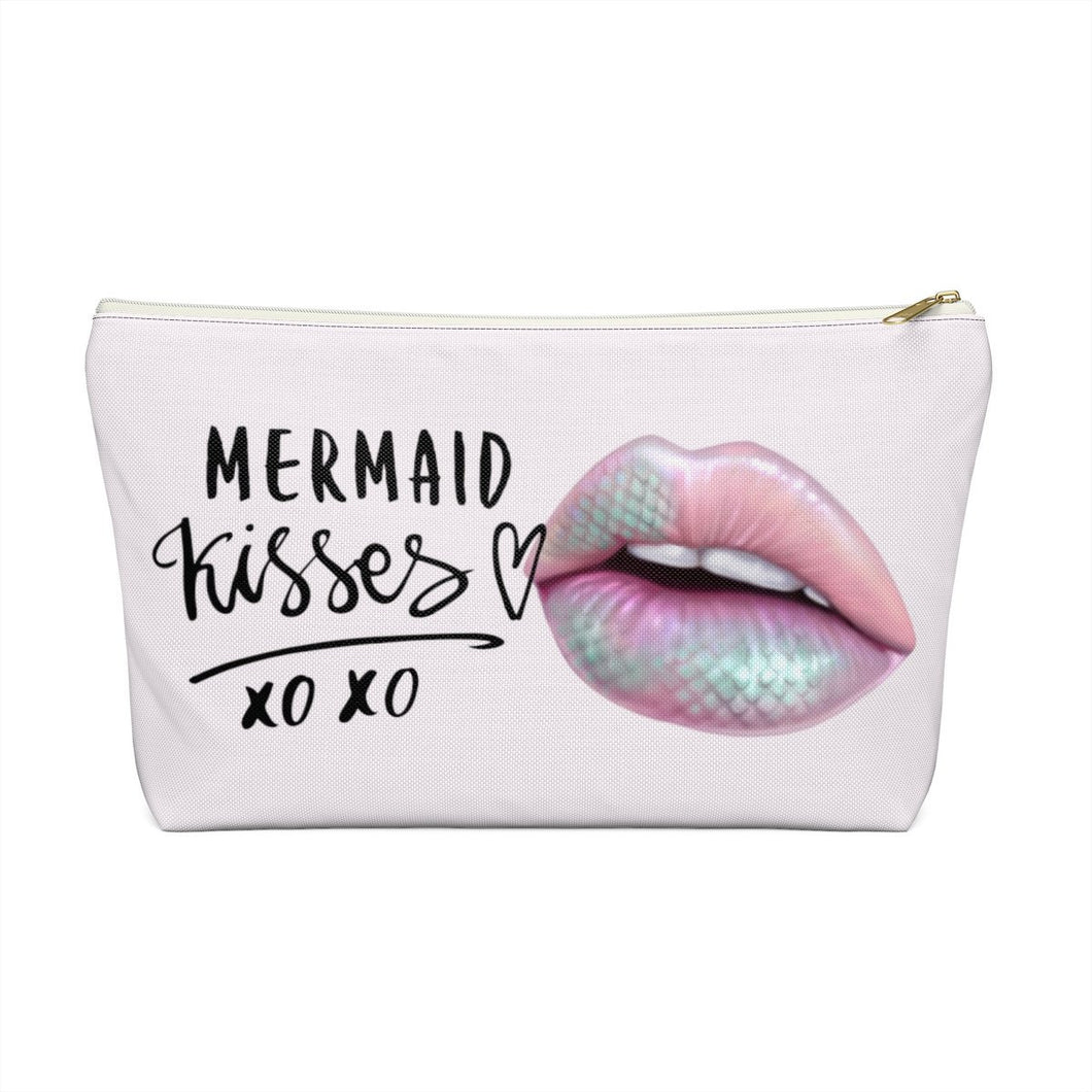 Mermaid Kisses Accessory Pouch with T-bottom - Pencil Case