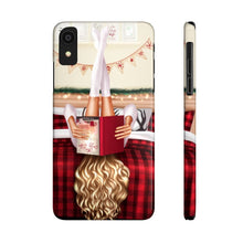 Load image into Gallery viewer, iPhone X Cozy Winter Reading Light Skin Blonde Hair Case Mate Slim Phone Cases