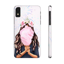 Load image into Gallery viewer, iPhone X Cotton Candy Dreams Medium Skin Brown Hair Case Mate Slim Phone Cases