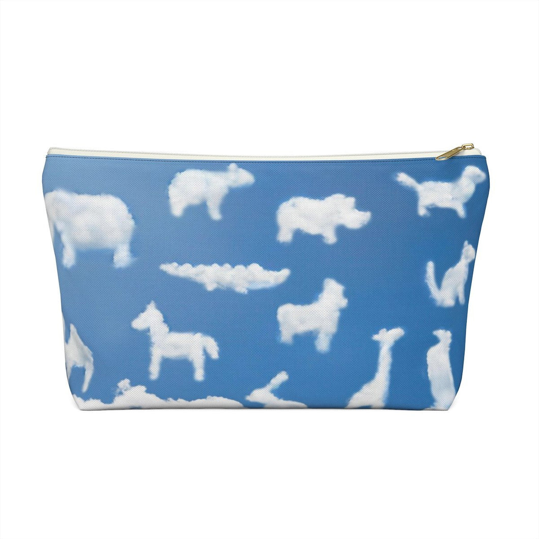 Animal Clouds Accessory Pouch with T-bottom - Pencil Case - Planner Press Designs