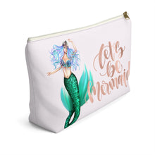 Load image into Gallery viewer, Mermaids Light Skin Accessory Pouch with T-bottom - Pencil Case