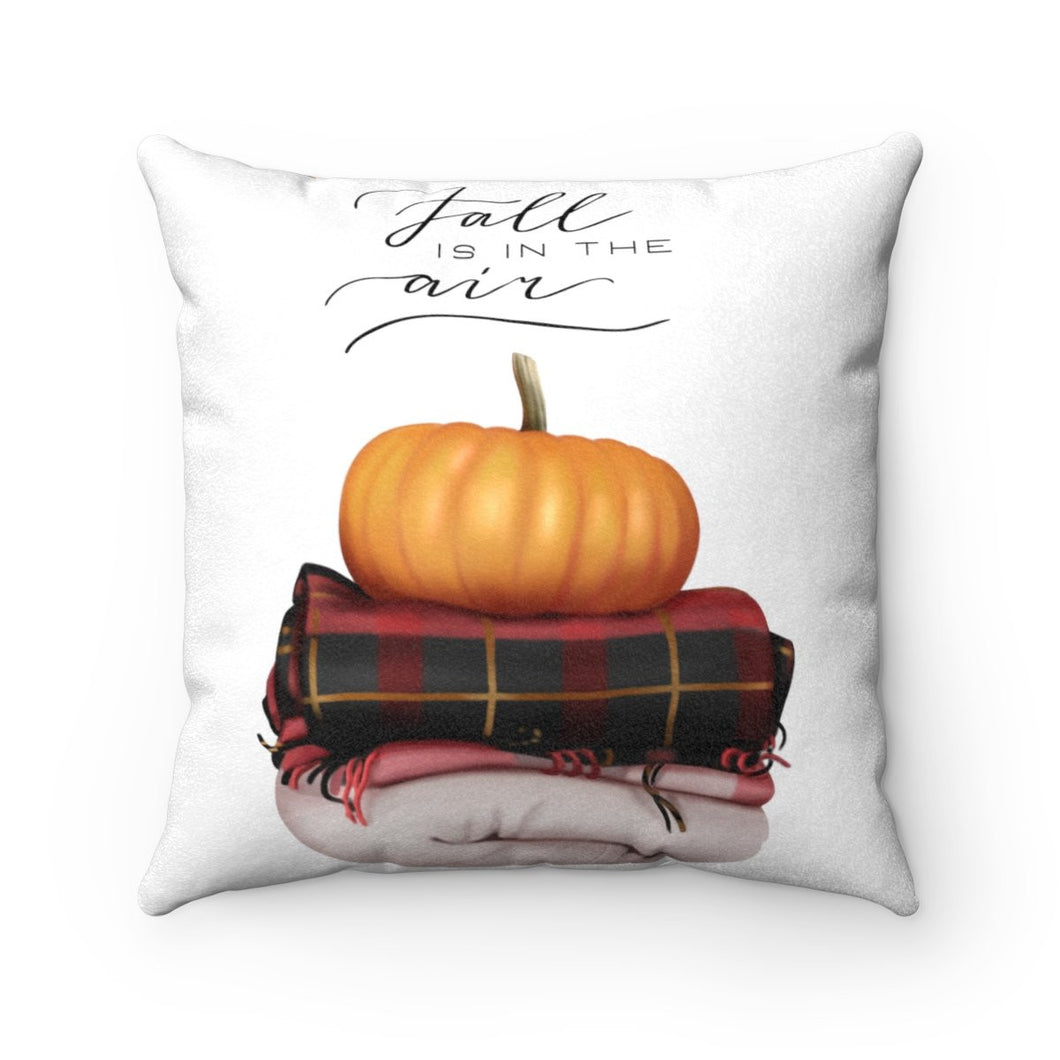 Pillow - Fall Is In The Air Faux Suede Square Pillow