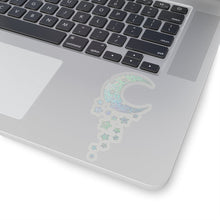 Load image into Gallery viewer, Holo Glitter Dripping Moon Vinyl Sticker Decal