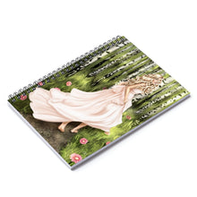 Load image into Gallery viewer, Forest Fiarytale Light Skin Blonde Hair Spiral Notebook - Ruled Line - Planner Press Designs