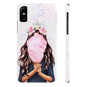 iPhone X Cotton Candy Dreams Medium Skin Brown Hair Case Mate Slim Phone Cases