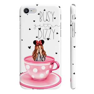 Busy Gettin Dizzy Light Skin Red Hair iPhone Case - Protective Phone Cover - Planner Press Designs