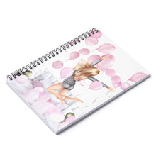Load image into Gallery viewer, Birthday Mornings Light Skin Blonde Hair Spiral Notebook - Ruled Line