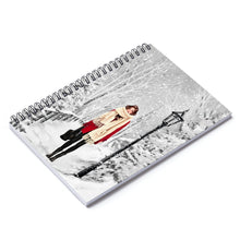 Load image into Gallery viewer, Winter Wonderland Light Skin Brown Hair Spiral Notebook - Ruled Line