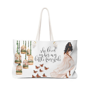 Fairytale Weekender Tote Bag-Dark Skin Black Hair - Weekend Tote Bag - Planner Press Designs