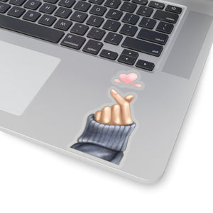 Korean Love Heart Hand Vinyl Sticker Decal