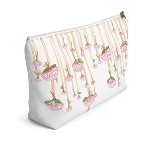 Dripping Flowers Accessory Pouch with T-bottom - Pencil Case