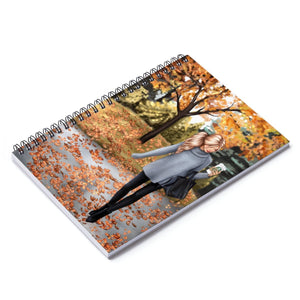 Walk in the Park Light Skin Blonde Hair Spiral Notebook - Ruled Line
