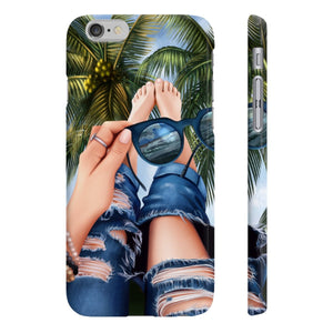 Summer Beach Vibes - Light Skin iPhone Case - Protective Phone Cover