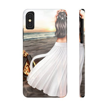 Load image into Gallery viewer, iPhone X Bonfire At The Beach Light Skin Black Hair Case Mate Slim Phone Cases
