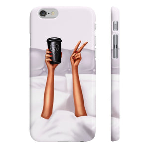 Good Morning Beautiful Dark Skin iPhone Case - Protective Phone Cover - Planner Press Designs