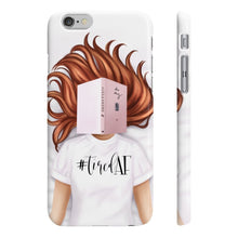 Load image into Gallery viewer, Tired AF Light Skin Red Hair iPhone Case - Protective Phone Cover