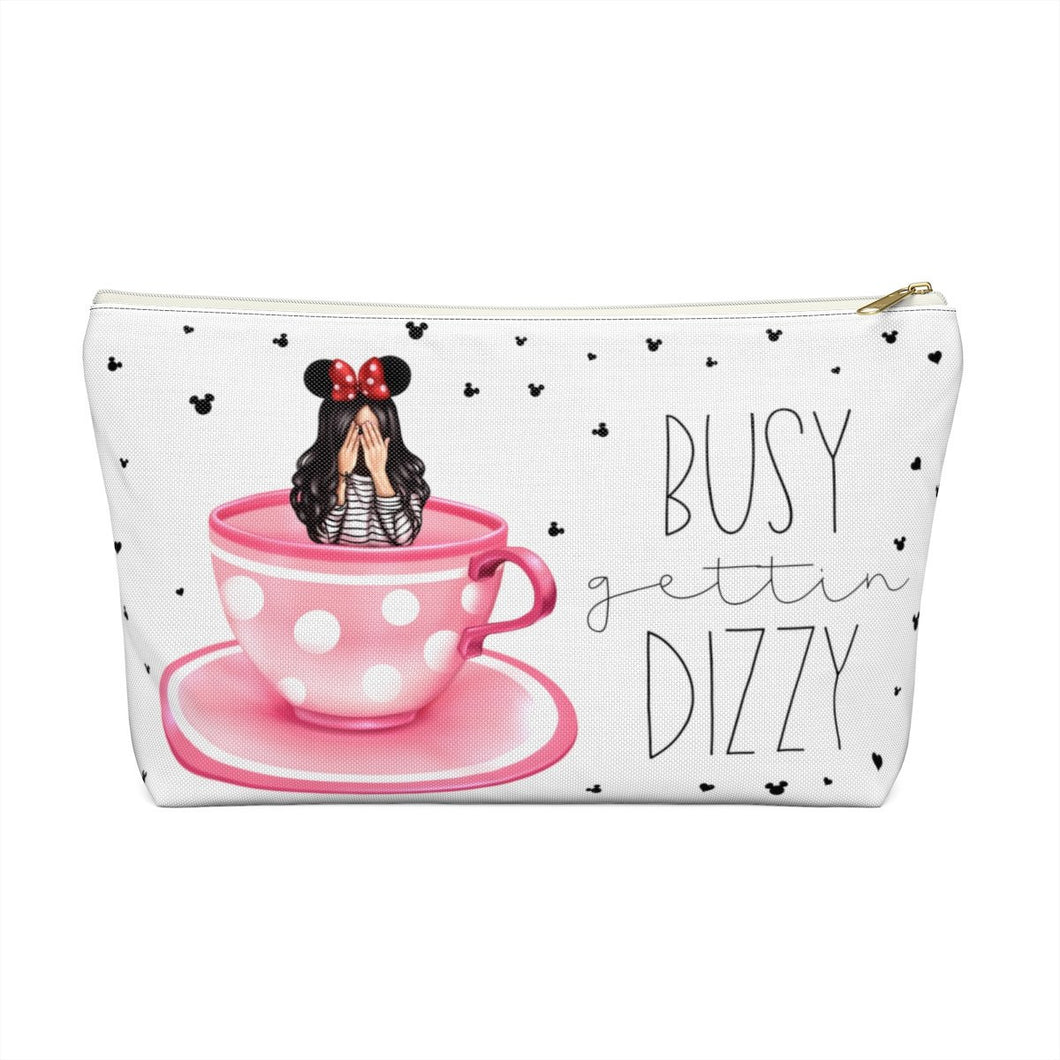 Busy Gettin Dizzy Light Skin Black Accessory Pouch with T-bottom - Pencil Case - Planner Press Designs