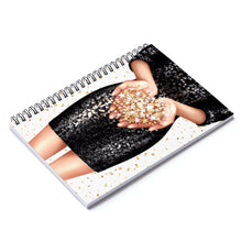 Load image into Gallery viewer, Confetti Girl Light Skin Spiral Notebook - Ruled Line