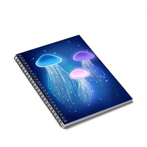 Jellyfish Spiral Notebook - Ruled Line