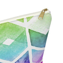 Load image into Gallery viewer, Chevron Rainbow Accessory Pouch with T-bottom - Pencil Case - Planner Press Designs