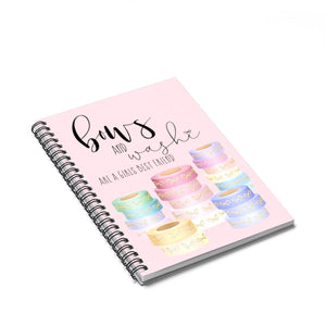 Bows and Washi Spiral Notebook - Ruled Line - Planner Press Designs